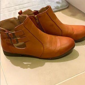 Brown/Orangeish Booties